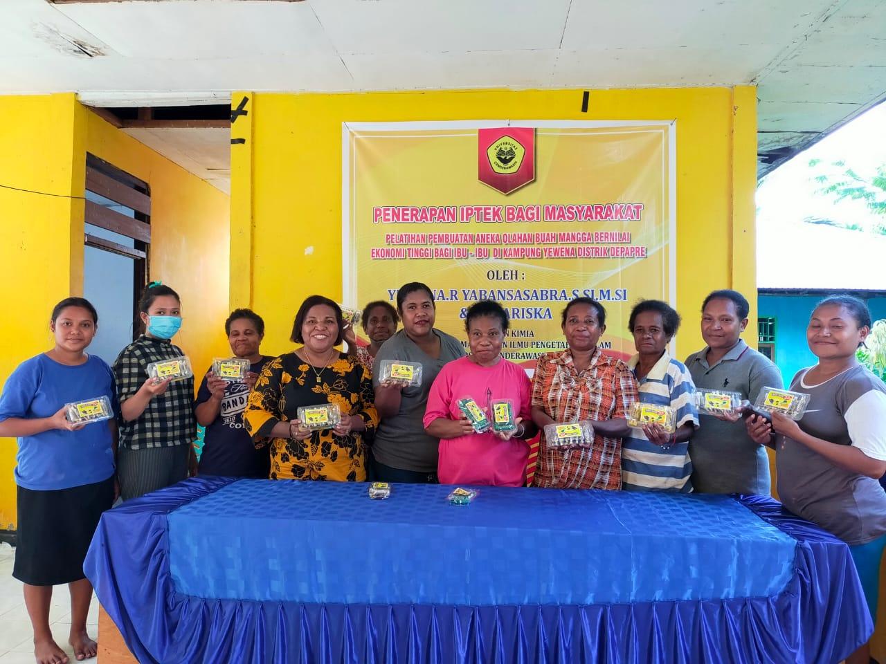Pelatihan Pengolahan Mangga di Kampung Yewena Distrik Depapre, Kabupaten Jayapura